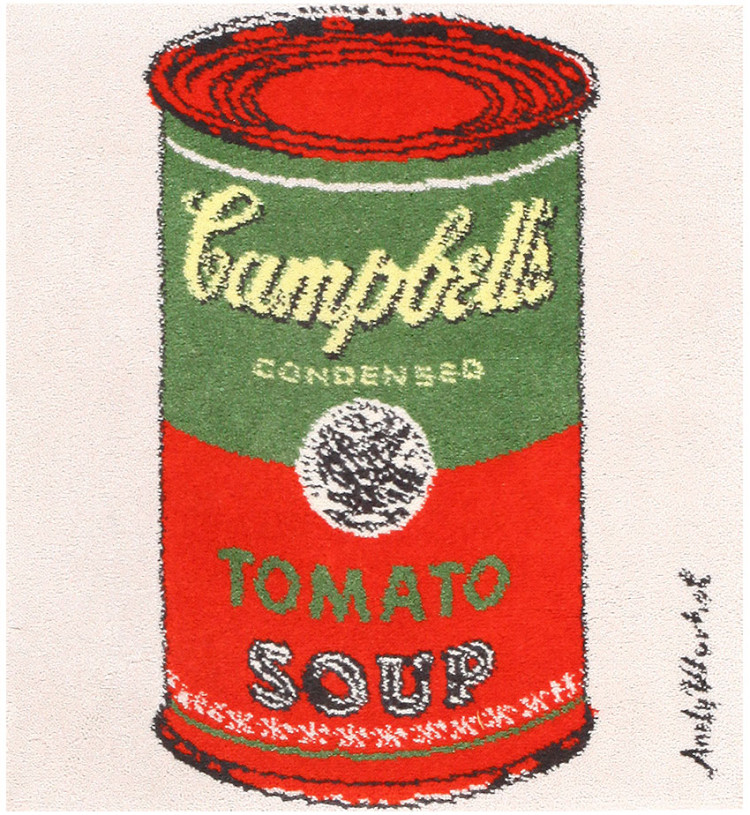 Vintage Andy Warhol Soup Can Rug 48423 by Nazmiyal