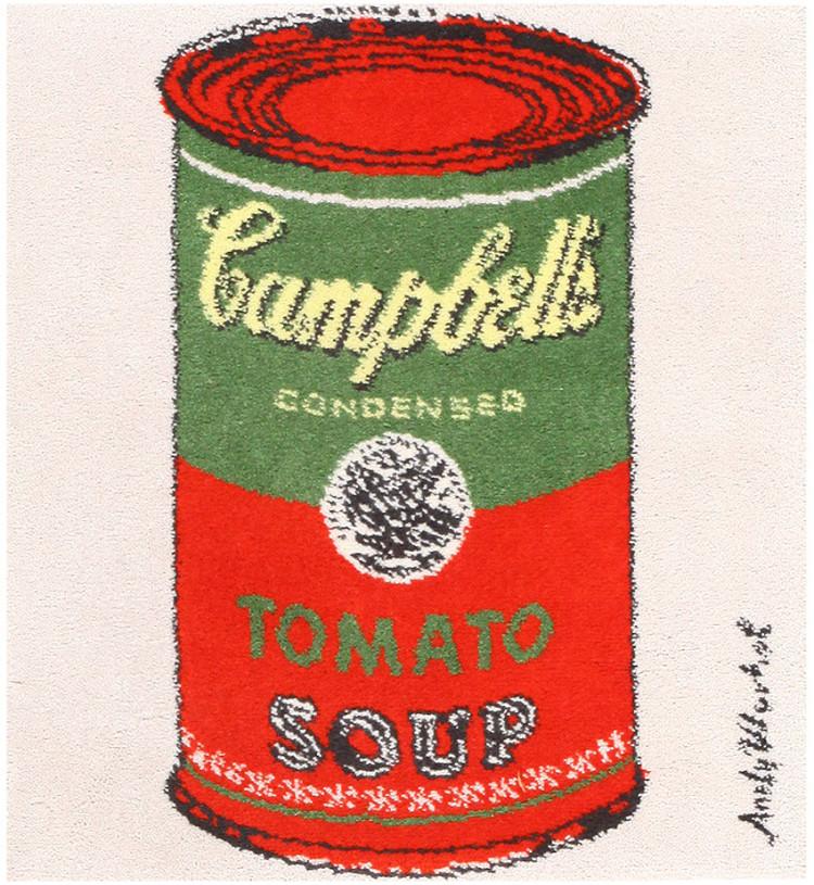 Vintage Andy Warhol Soup Can Rug 48423 by Nazmiyal