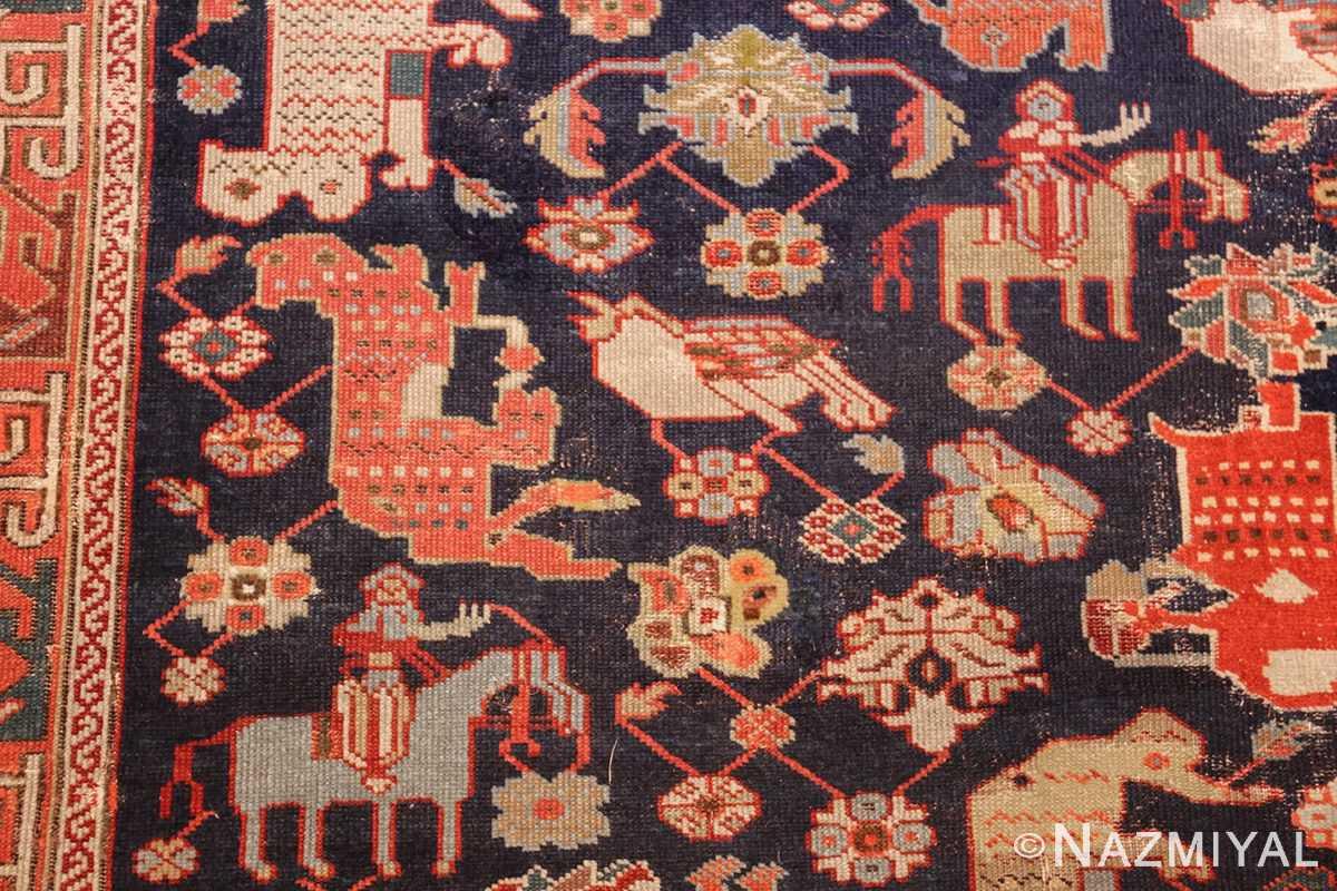 antique 18th century caucasian rug with animal design 48413 birds Nazmiyal