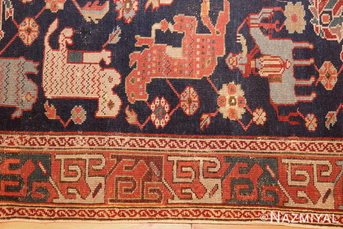 antique 18th century caucasian rug with animal design 48413 border Nazmiyal