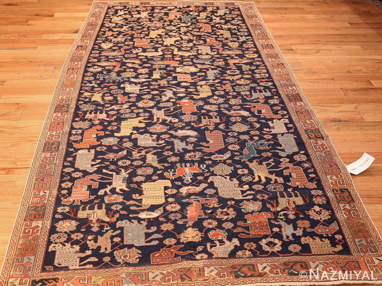antique 18th century caucasian rug with animal design 48413 full Nazmiyal