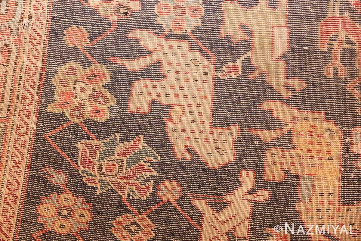 antique 18th century caucasian rug with animal design 48413 weave Nazmiyal