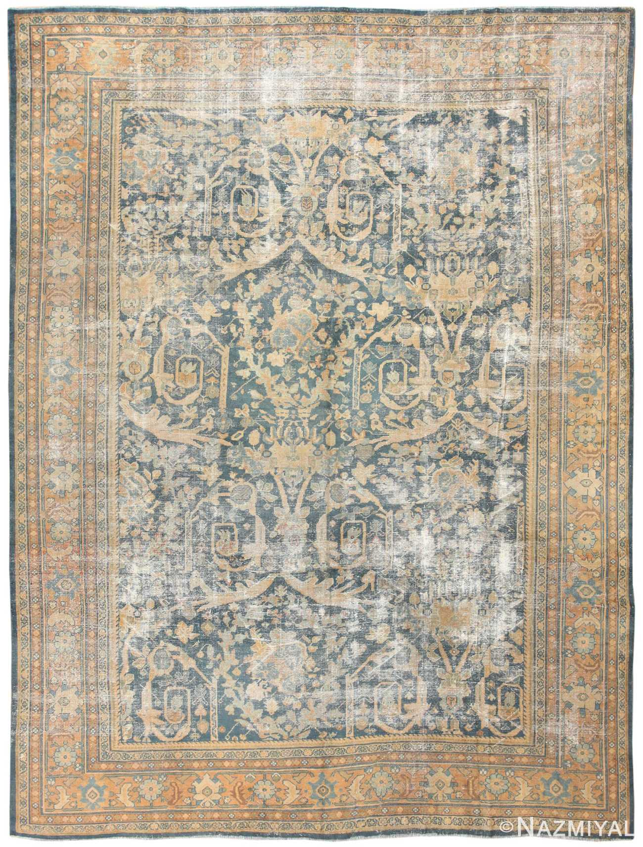 "Antique ""Shabby Chic"" Persian Sultanabad Rug 42910 Detail/Large View"