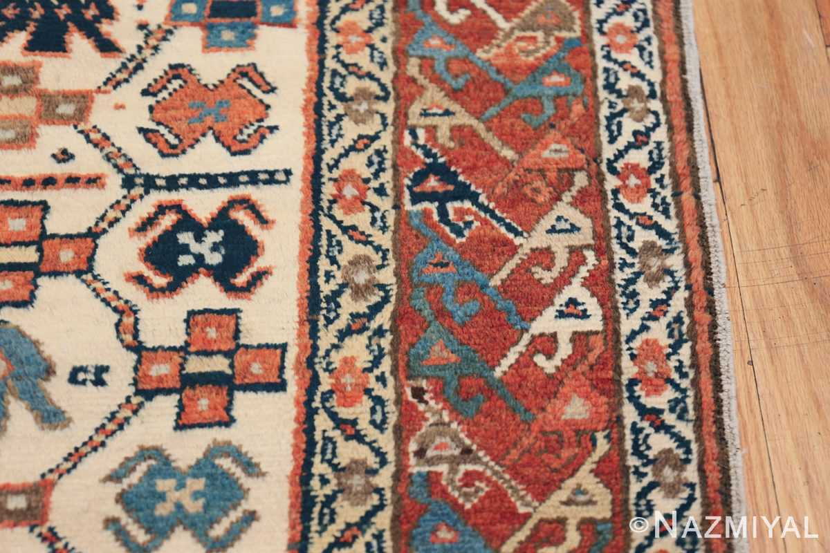 Antique Caucasian Kazak Runner 50048 Border Design Nazmiyal