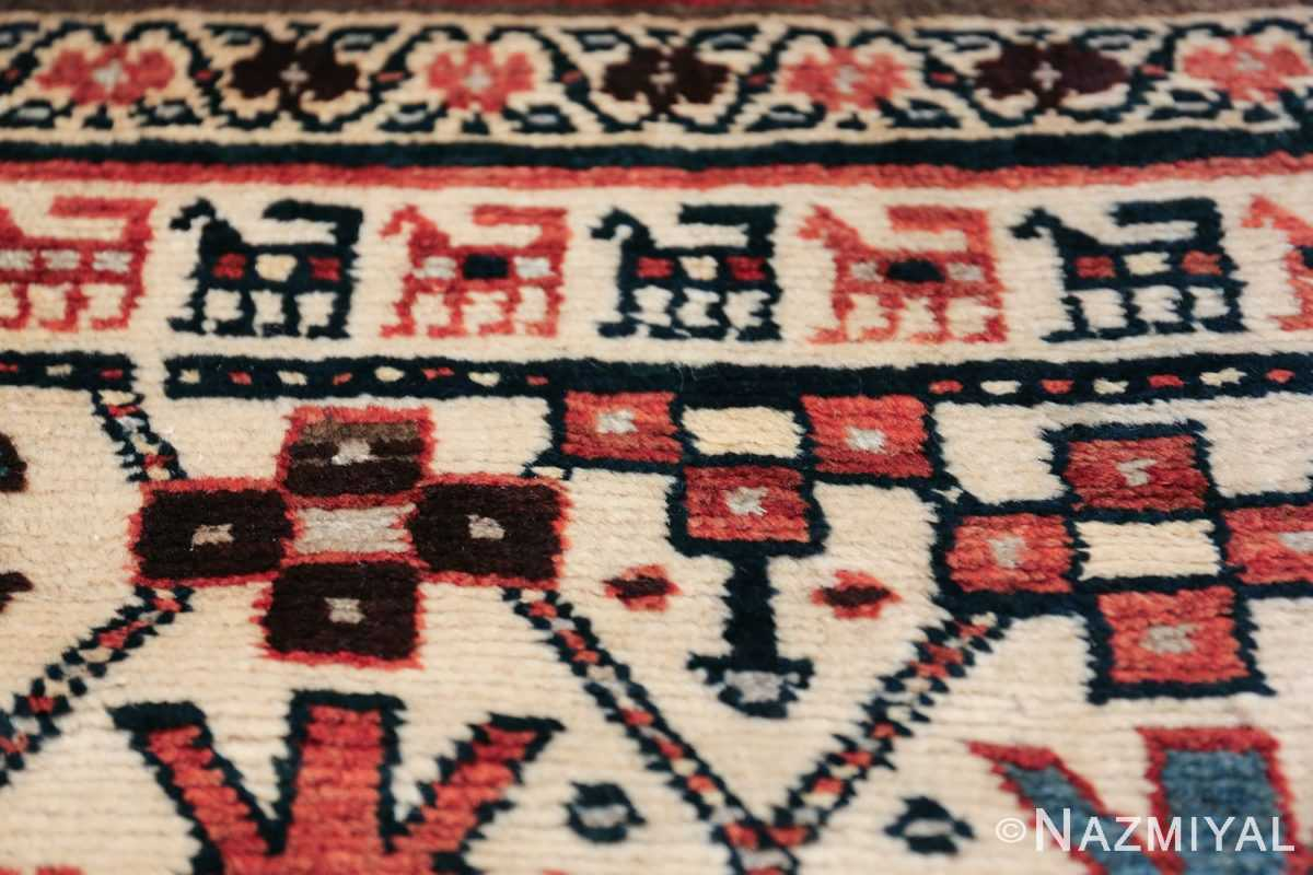 Antique Caucasian Kazak Runner 50048 Geometric Animal Nazmiyal