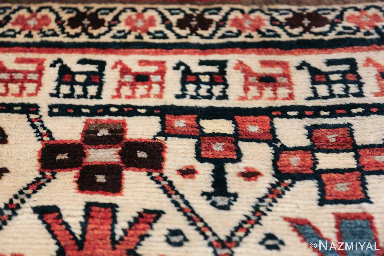 Antique Caucasian Kazak Runner 50048 Geometric Animal Nazmiyal