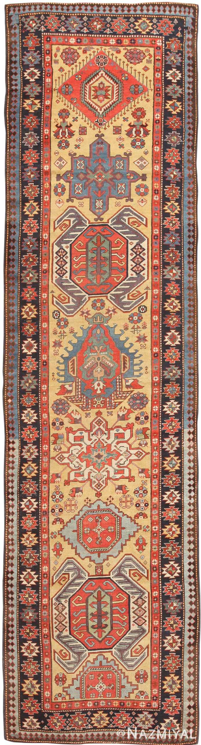 Antique Caucasian Lenkoran / Talish Runner Rug 47264 Nazmiyal
