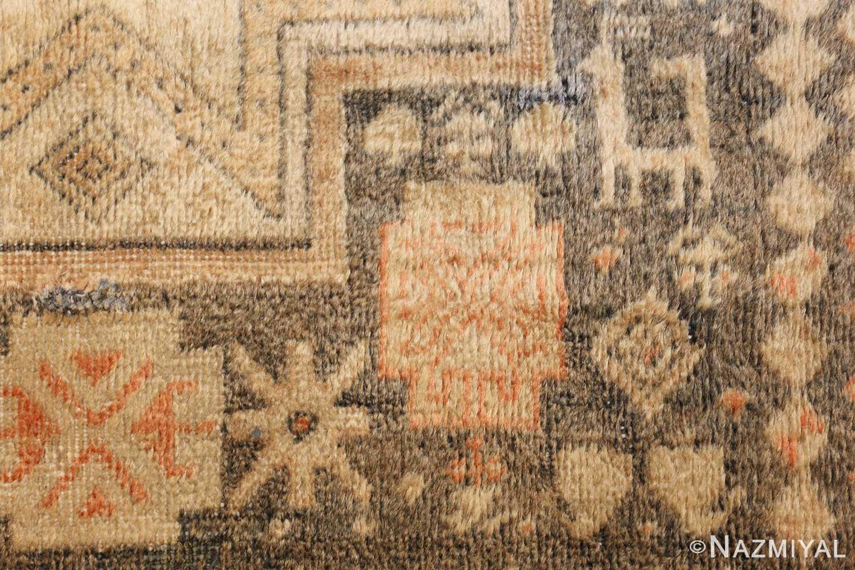 antique caucasian rug with tribal motifs 48092 animal Nazmiyal