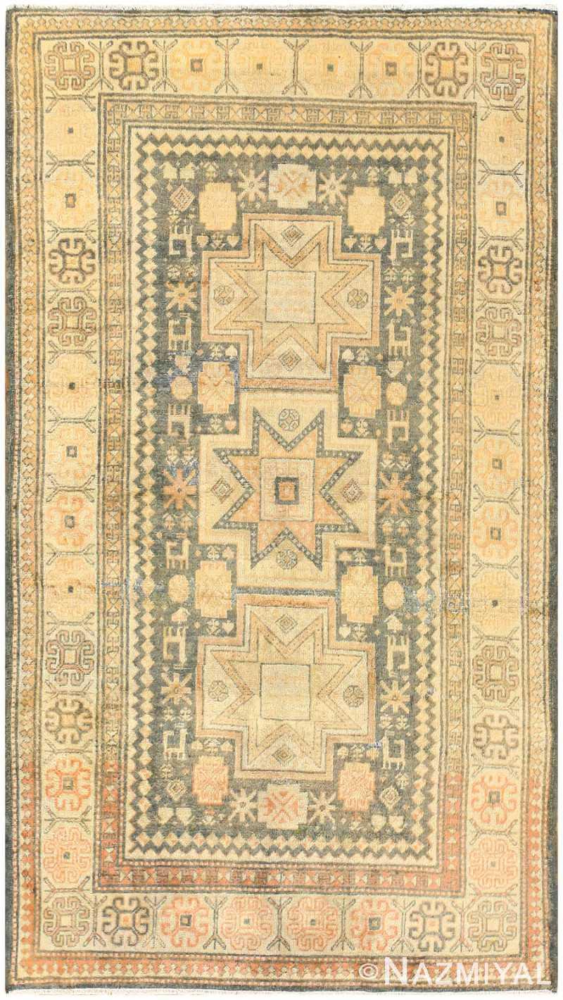 Antique Caucasian Rug with Tribal Motifs 48092 Nazmiyal