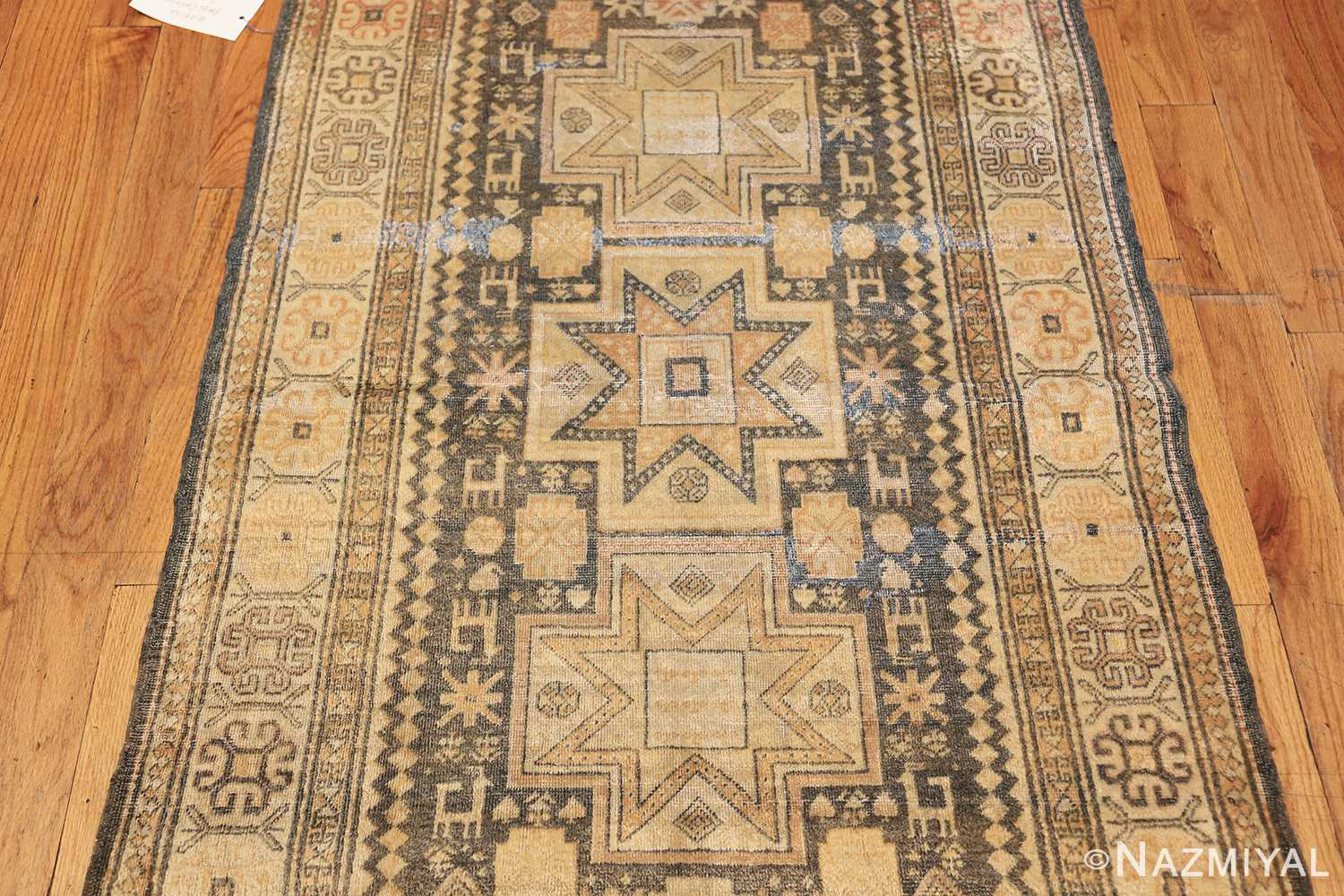 antique caucasian rug with tribal motifs 48092 field Nazmiyal