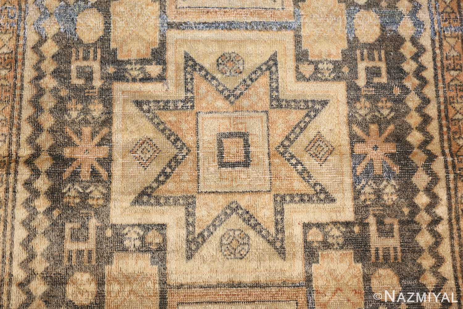 antique caucasian rug with tribal motifs 48092 middle Nazmiyal