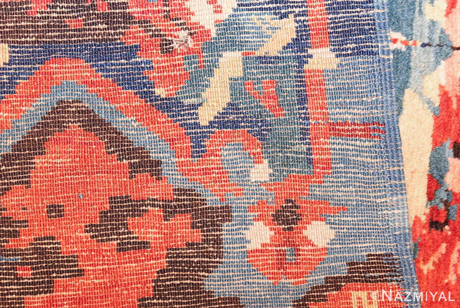 antique caucasian seychour rug 50040 weave Nazmiyal