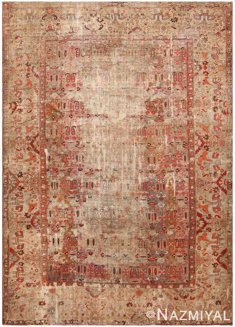 Antique Deccan Indian Rug 42106 Detail/Large View