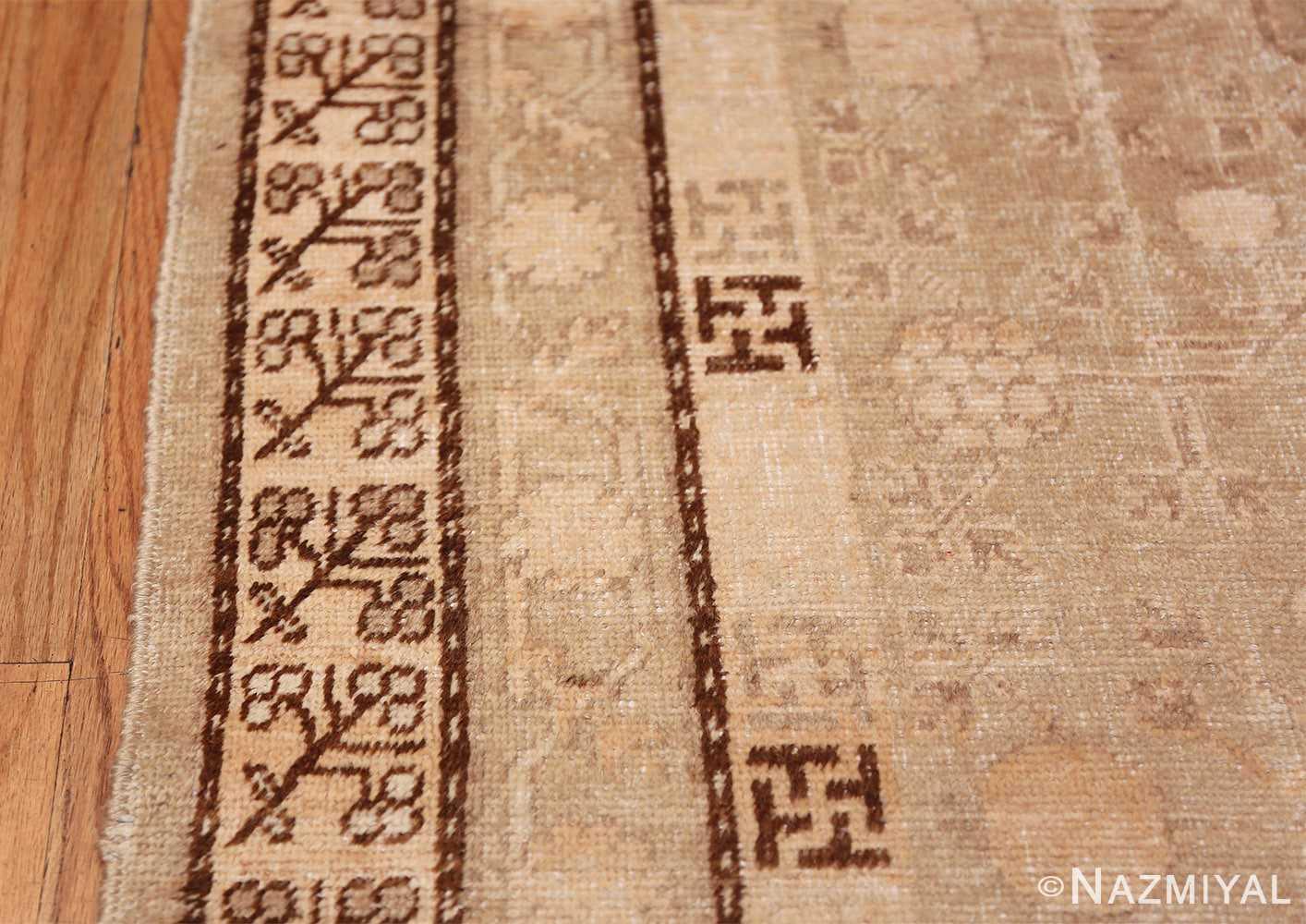 Antique East Turkestan Khotan Rug 50142 Border Design Nazmiyal