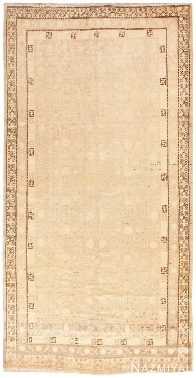 Antique East Turkestan Khotan Rug 50142 Nazmiyal