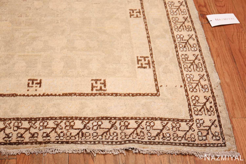 Antique East Turkestan Khotan Rug 50142 Side Corner Nazmiyal