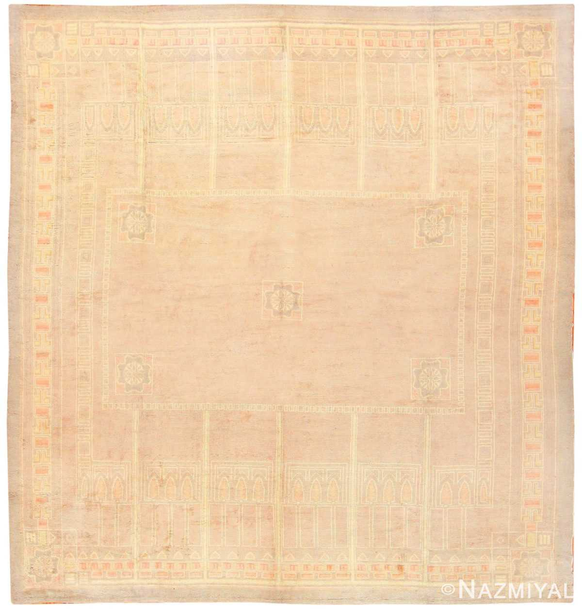 Antique French Deco Rug 50089 Detail/Large View