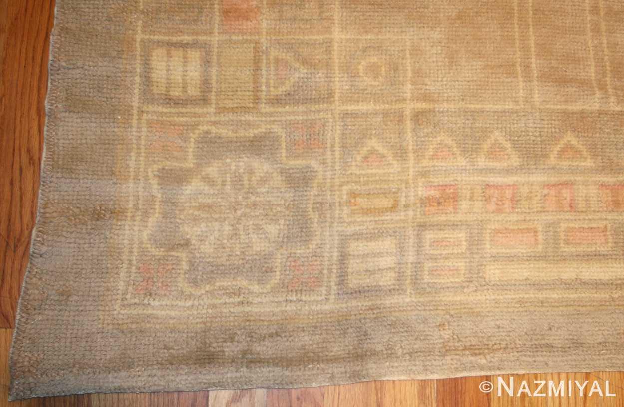 antique french deco rug 50089 peony Nazmiyal