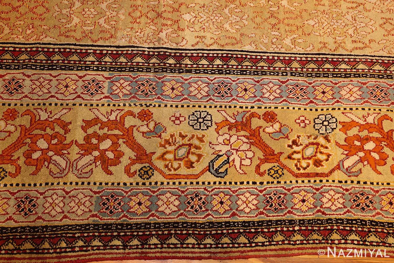 antique indian agra rug 50070 border Nazmiyal