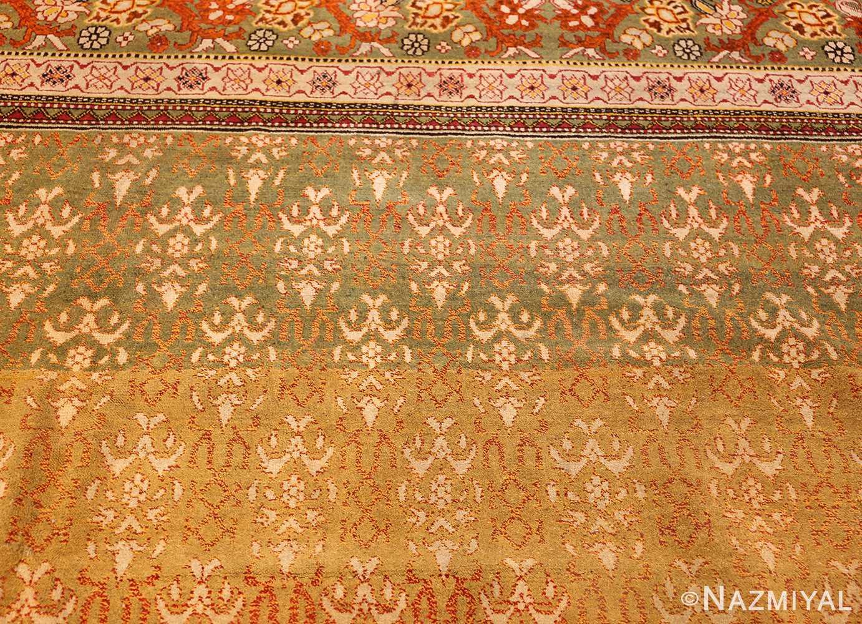 antique indian agra rug 50070 bottom Nazmiyal