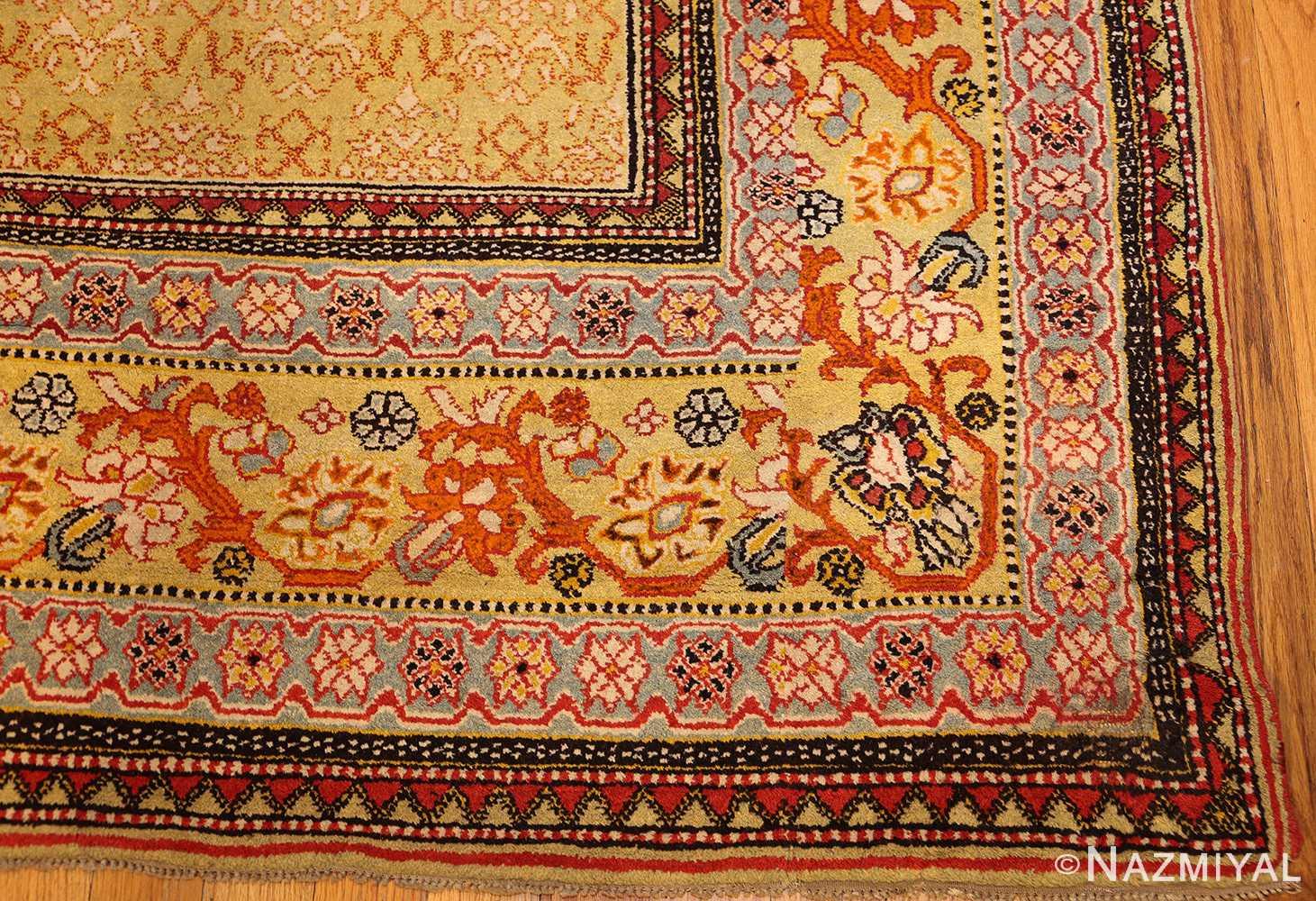 antique indian agra rug 50070 corner Nazmiyal