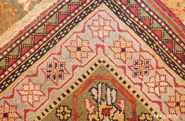 antique indian agra rug 50070 weave Nazmiyal