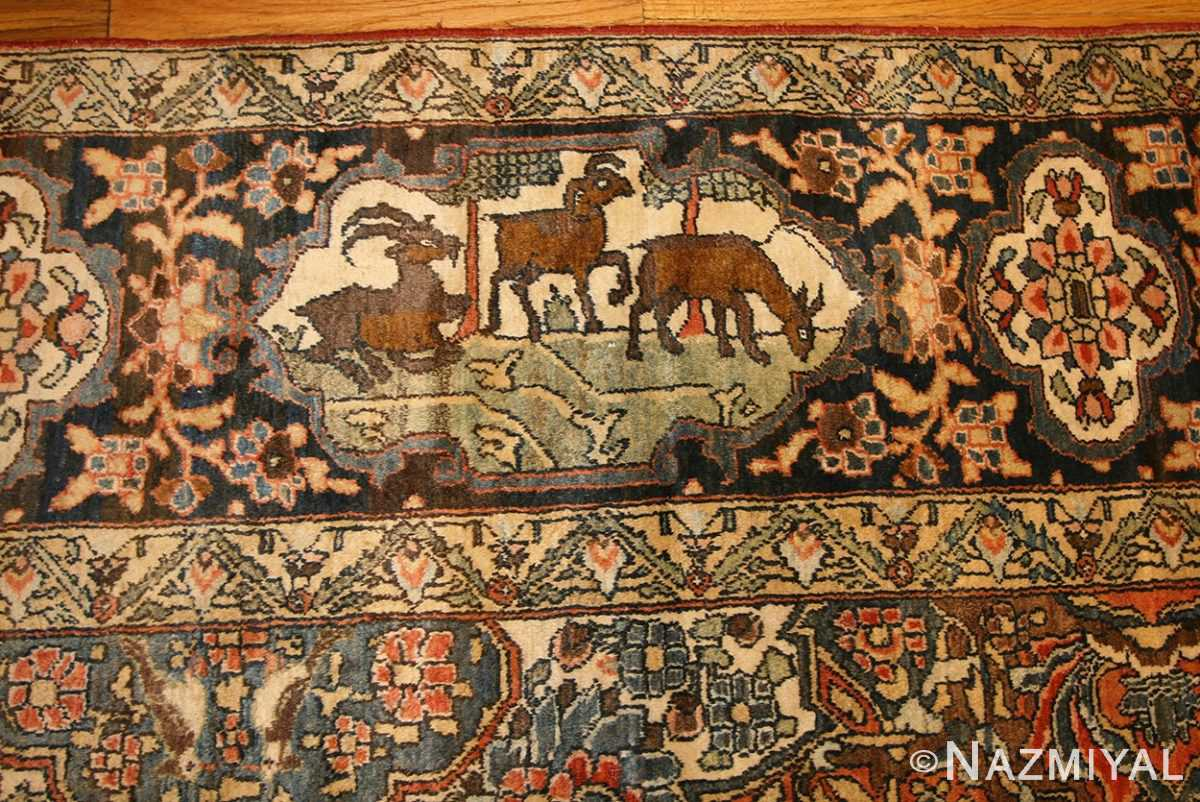 antique persian bakhtiari rug 50103 animal Nazmiyal