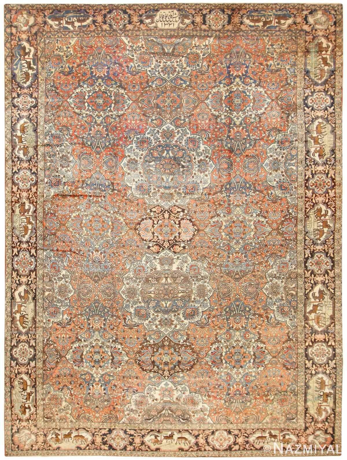 Antique Persian Bakhtiari Rug 50103 Nazmiyal