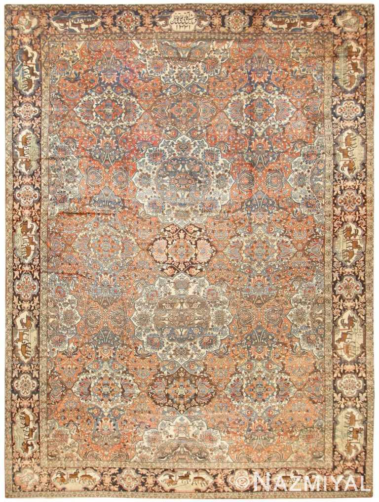 Antique Persian Bakhtiari Rug 50103 Nazmiyal