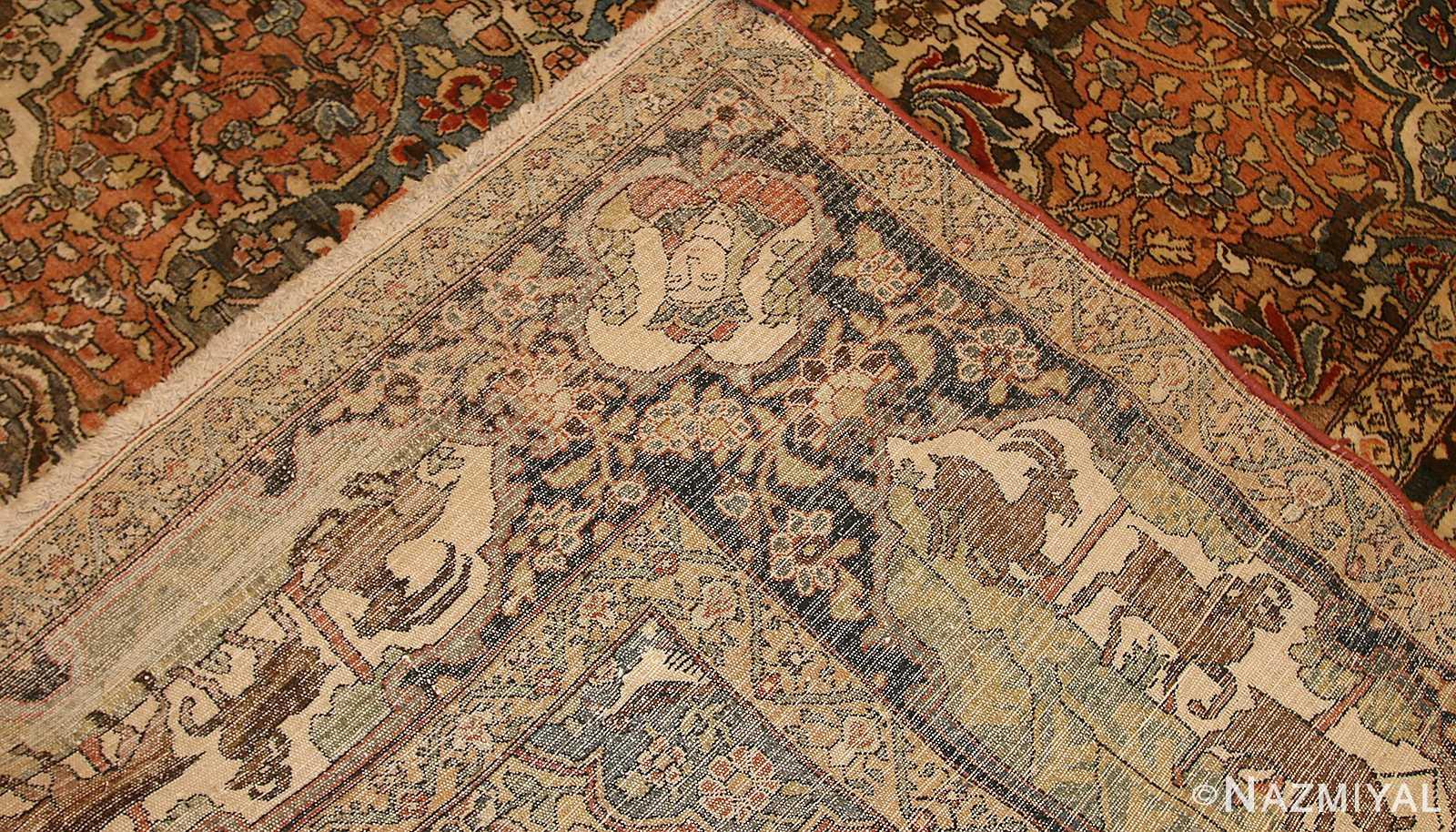 antique persian bakhtiari rug 50103 weave Nazmiyal
