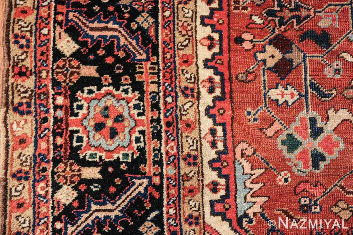 antique persian heriz rug 48318 border Nazmiyal