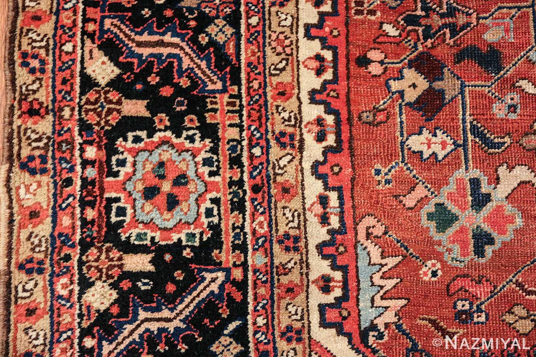antique persian heriz rug 48318 border Nazmiyal