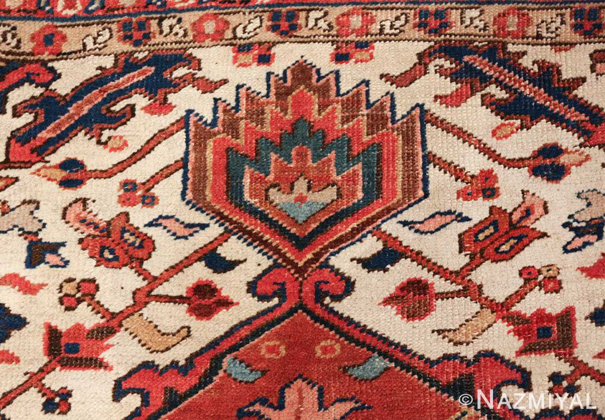 antique persian heriz rug 48318 colorful Nazmiyal