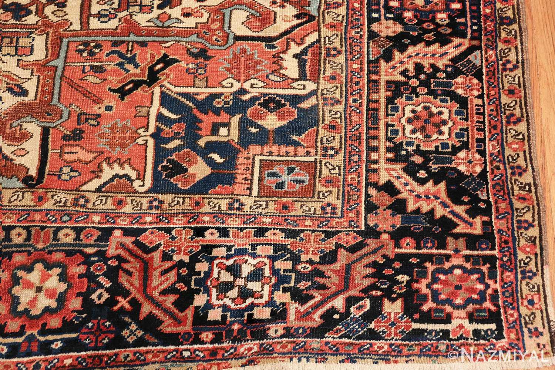 antique persian heriz rug 48318 corner Nazmiyal