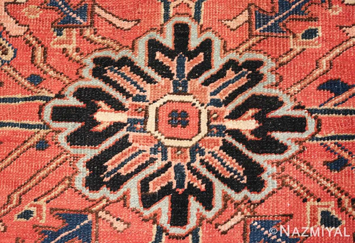 antique persian heriz rug 48318 dot Nazmiyal