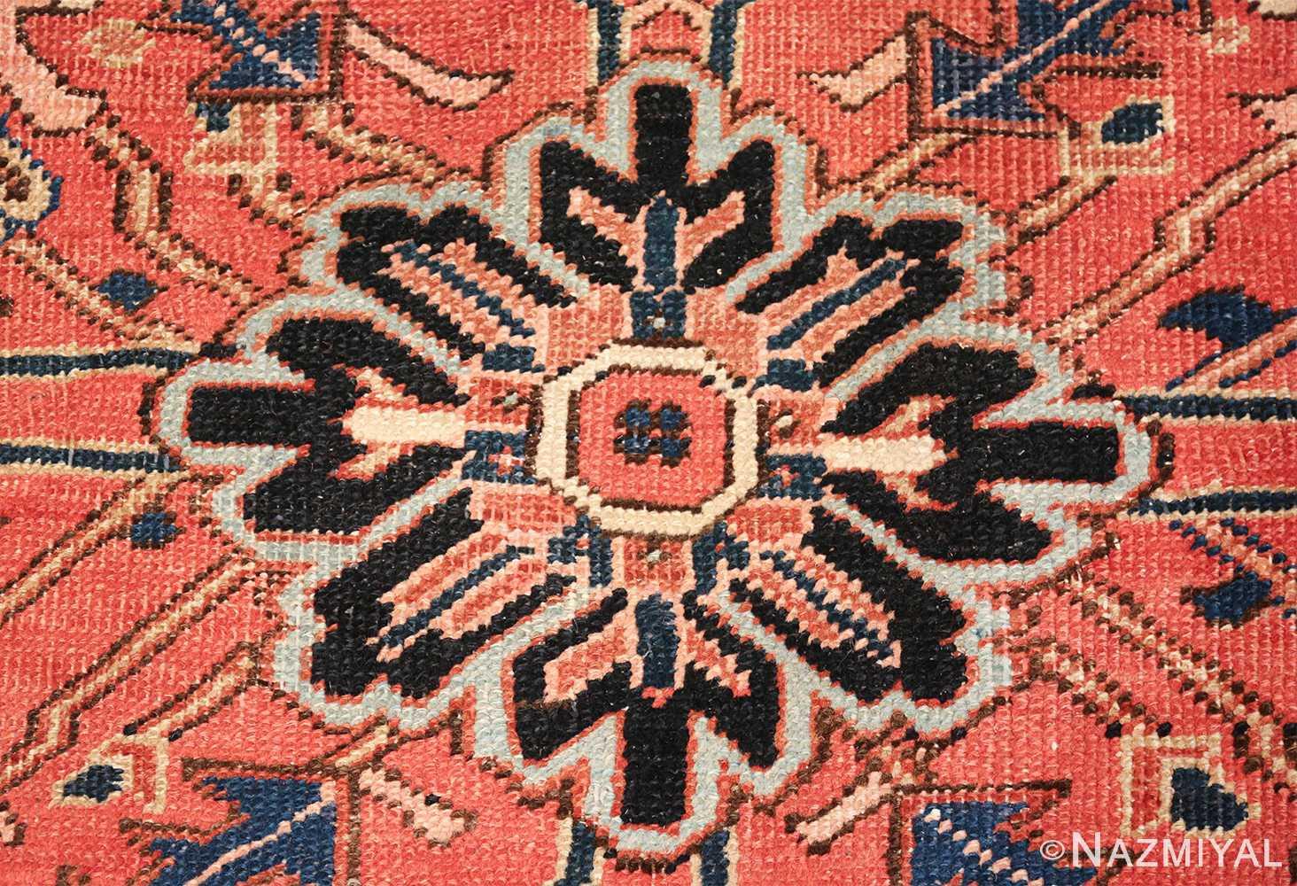 antique persian heriz rug 48318 dot Nazmiyal