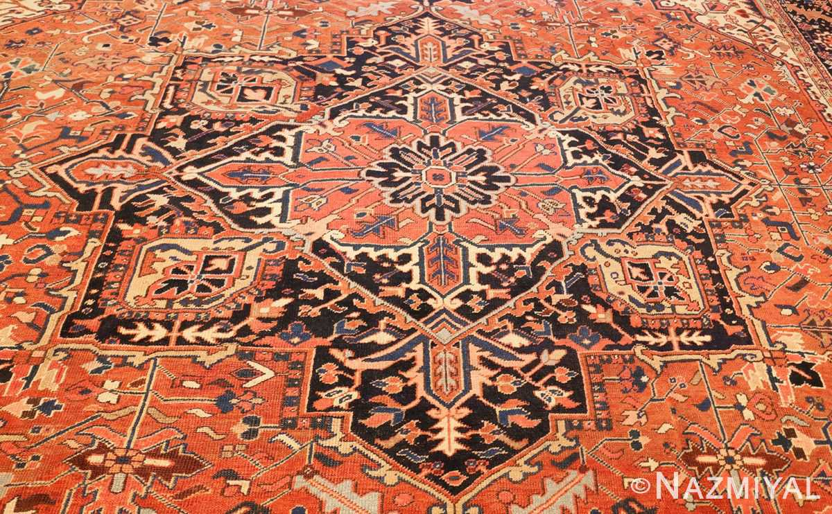 antique persian heriz rug 48318 field Nazmiyal