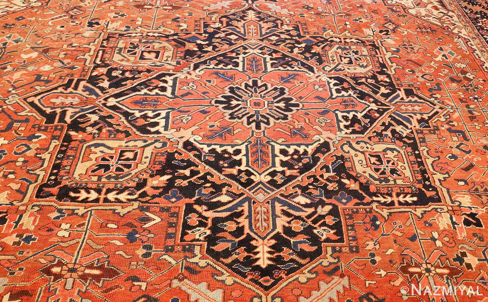 antique persian heriz rug 48318 field Nazmiyal