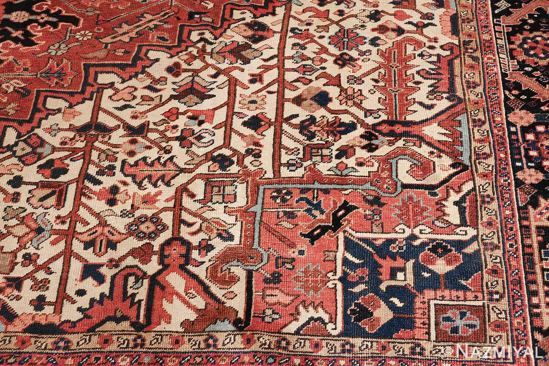 antique persian heriz rug 48318 pattern Nazmiyal