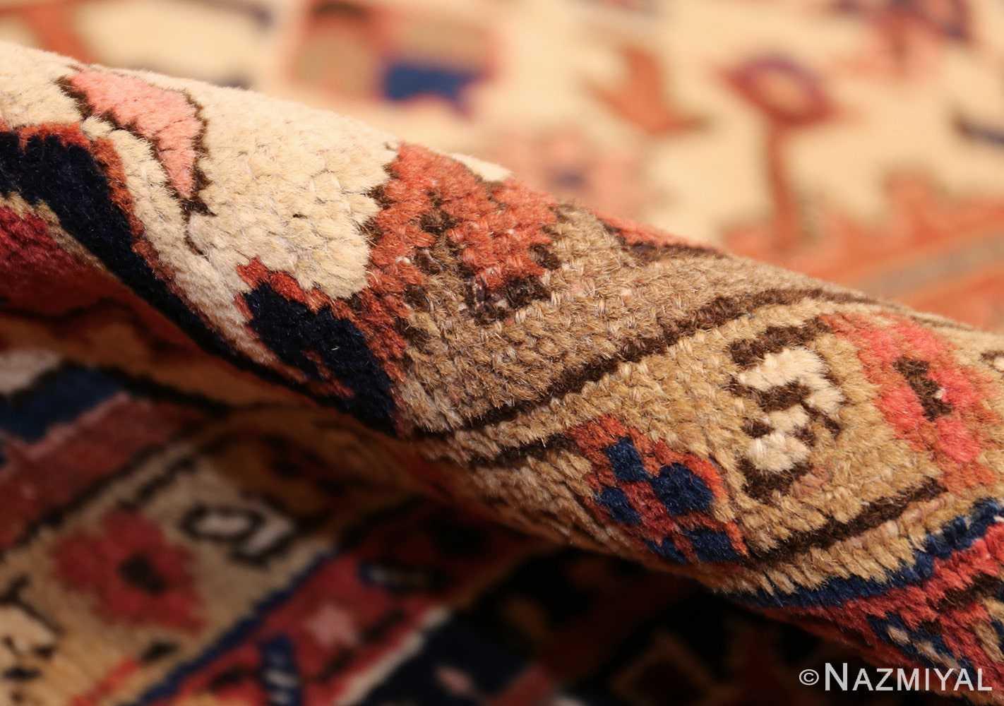 antique persian heriz rug 48318 pile Nazmiyal