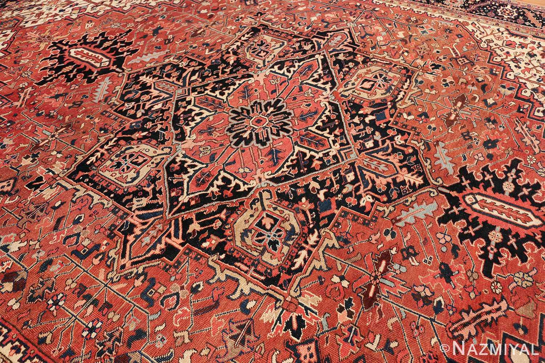 antique persian heriz rug 48318 slanted Nazmiyal