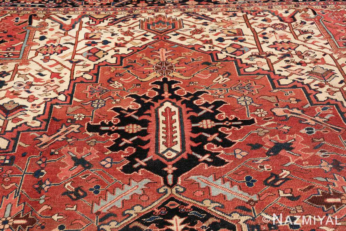 antique persian heriz rug 48318 tiara Nazmiyal