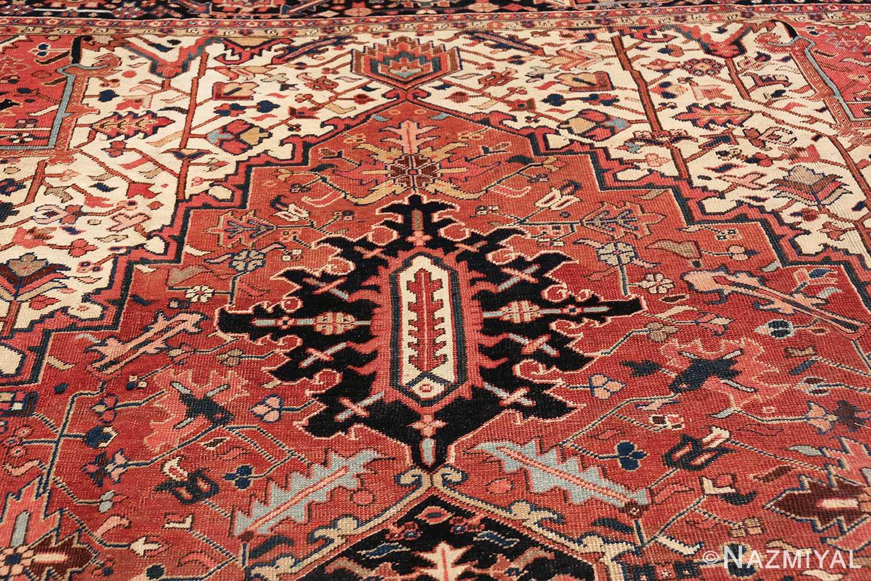 antique persian heriz rug 48318 tiara Nazmiyal