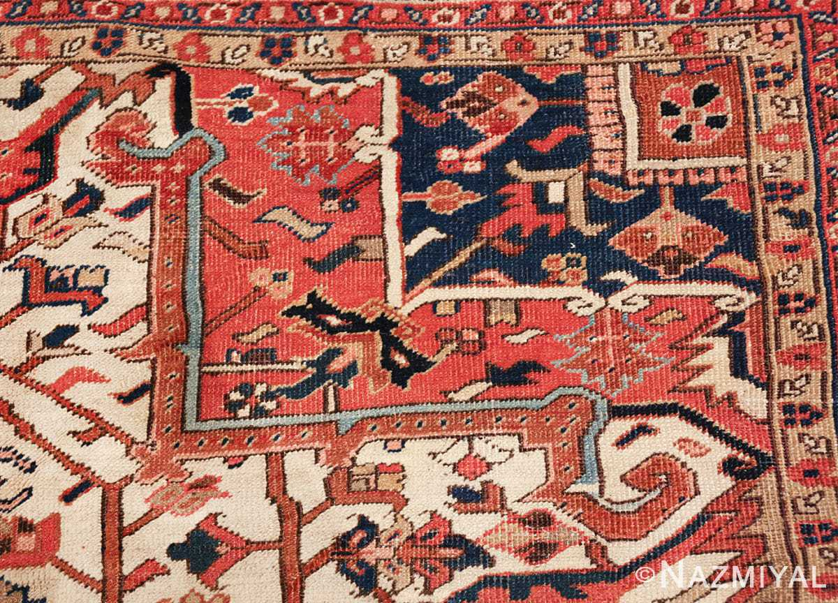 antique persian heriz rug 48318 tiny Nazmiyal