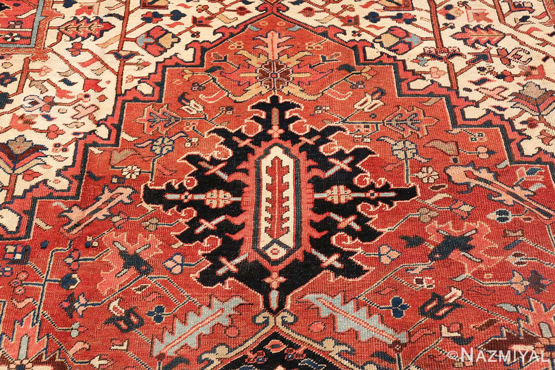 antique persian heriz rug 48318 top part Nazmiyal