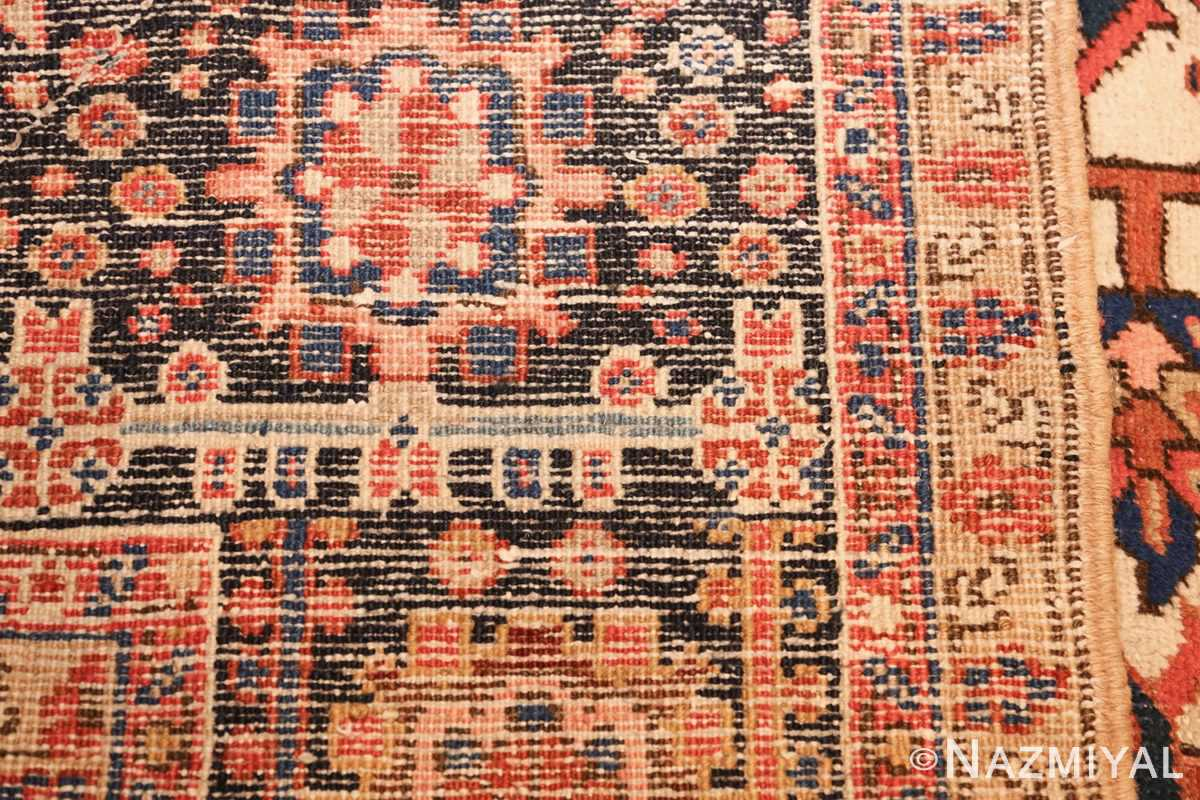 antique persian heriz rug 48318 weave Nazmiyal