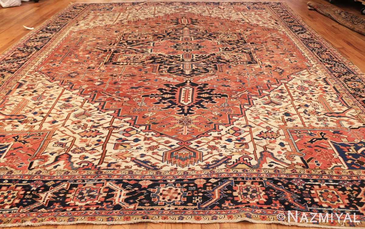 antique persian heriz rug 48318 whole Nazmiyal