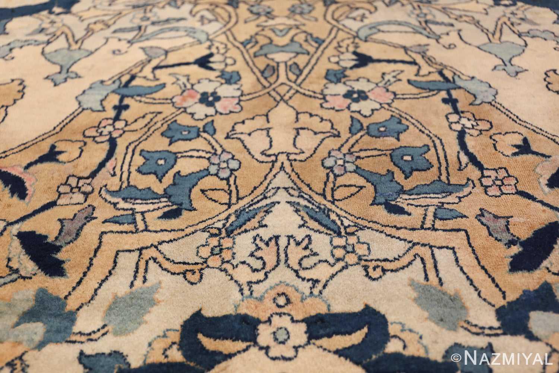 Antique Persian Kerman Carpet 50099 Red Flowers Nazmiyal