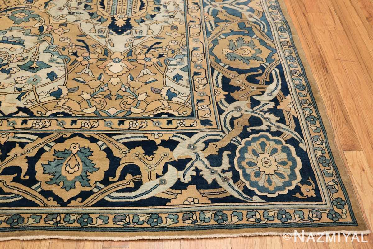 Antique Persian Kerman Carpet 50099 Side Corner Nazmiyal