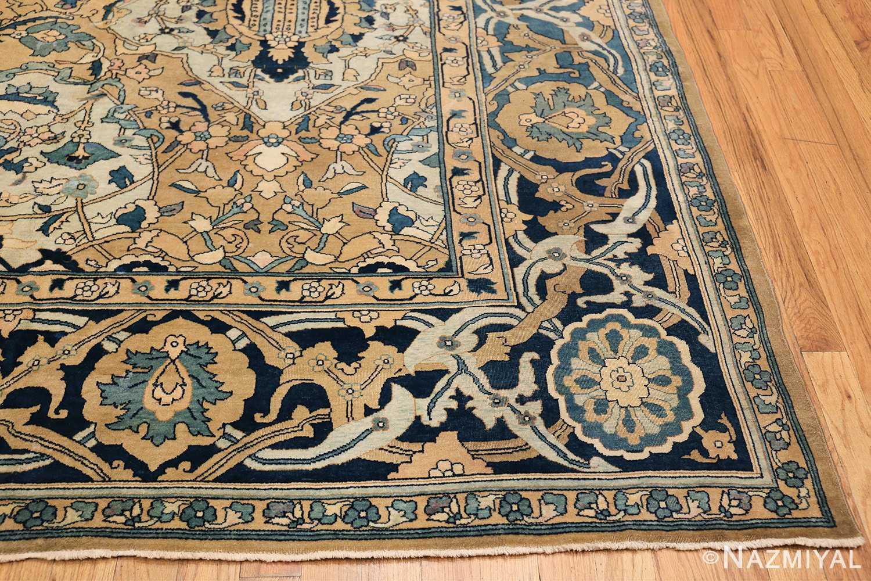 Antique Persian Kerman Carpet 50099 Side Corner Nazmiyal